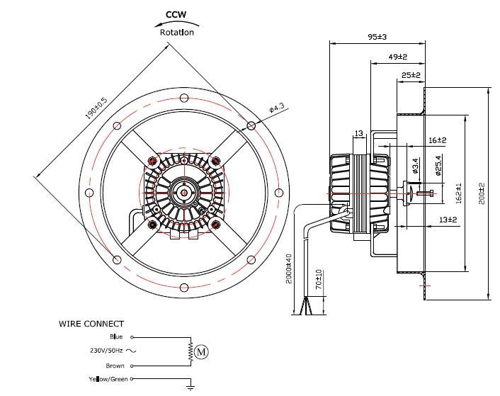 tf mv16w 250a - moteur  u00e0 virole